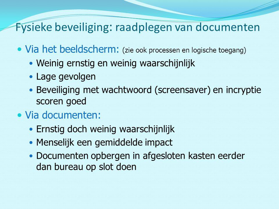 Fysieke beveiliging: raadplegen van documenten