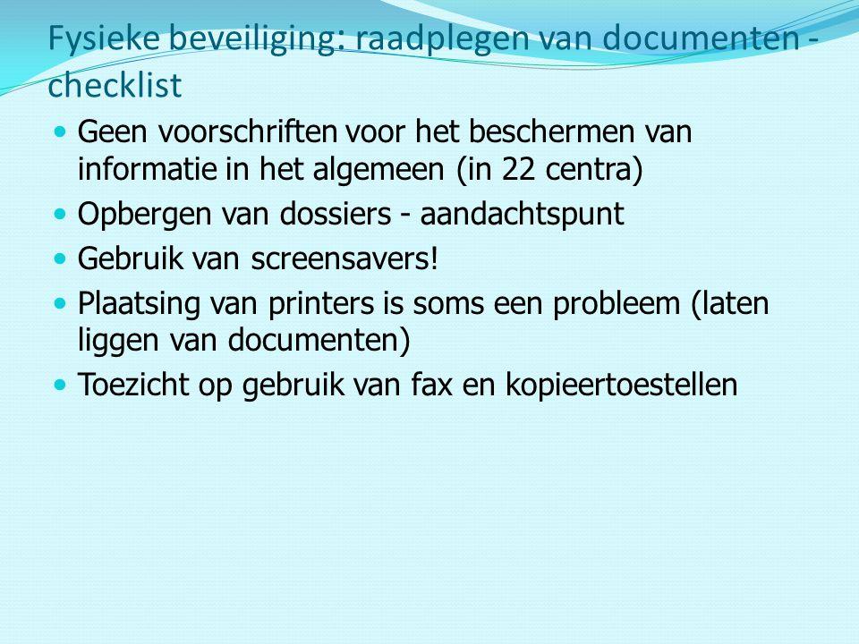 Fysieke beveiliging: raadplegen van documenten - checklist