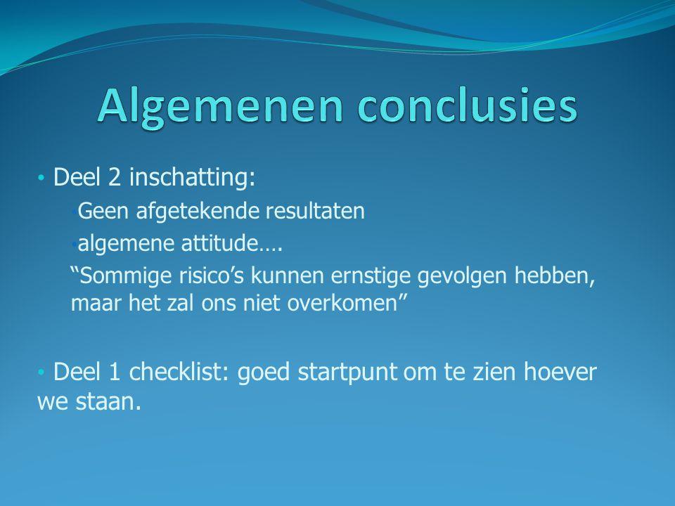 Algemenen conclusies Deel 2 inschatting: