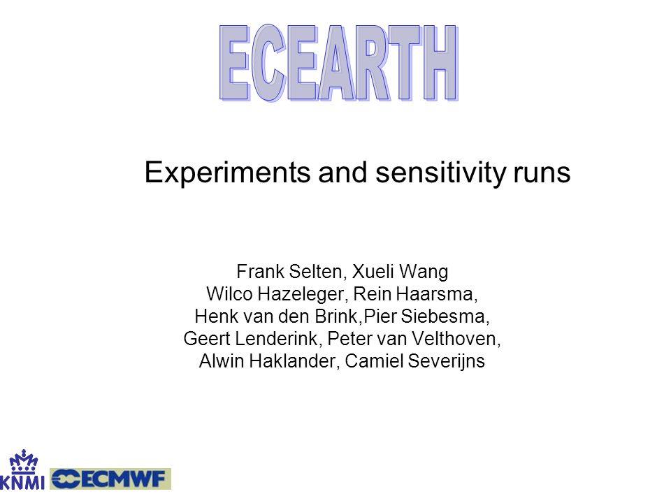 ECEARTH Frank Selten, Xueli Wang Wilco Hazeleger, Rein Haarsma,