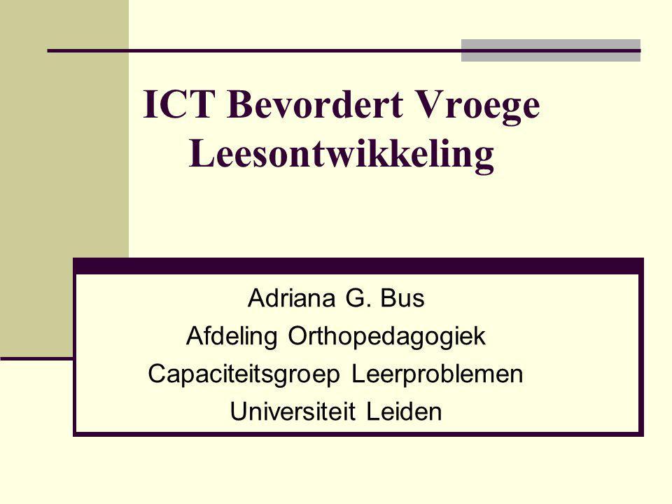 ICT Bevordert Vroege Leesontwikkeling
