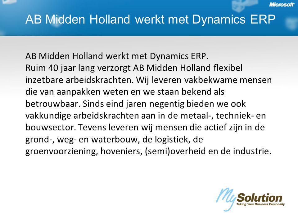 AB Midden Holland werkt met Dynamics ERP