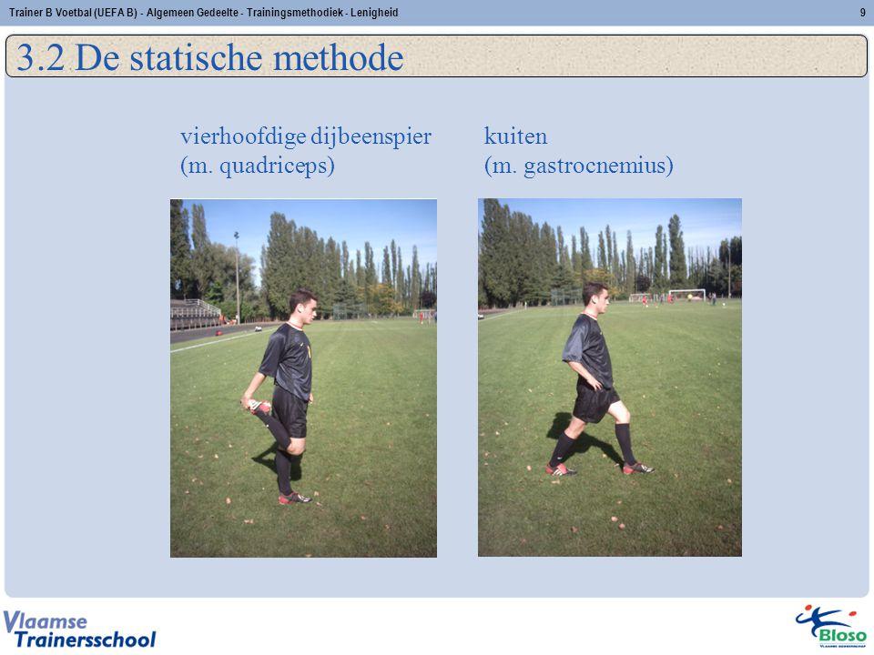 3.2 De statische methode vierhoofdige dijbeenspier (m. quadriceps)