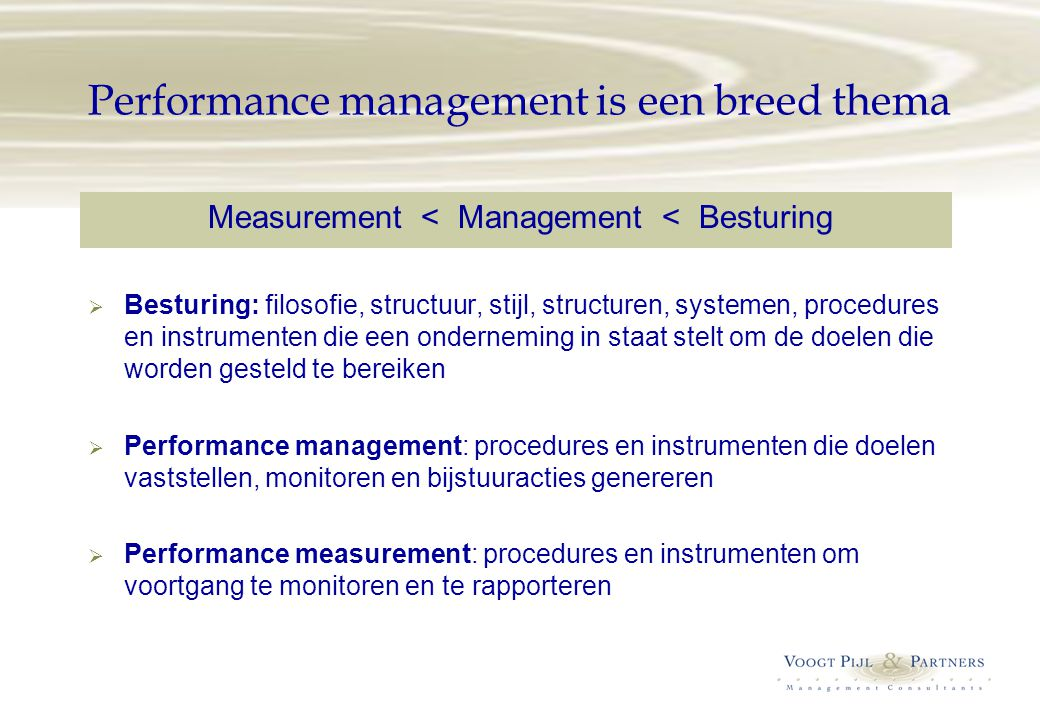 Performance management is een breed thema
