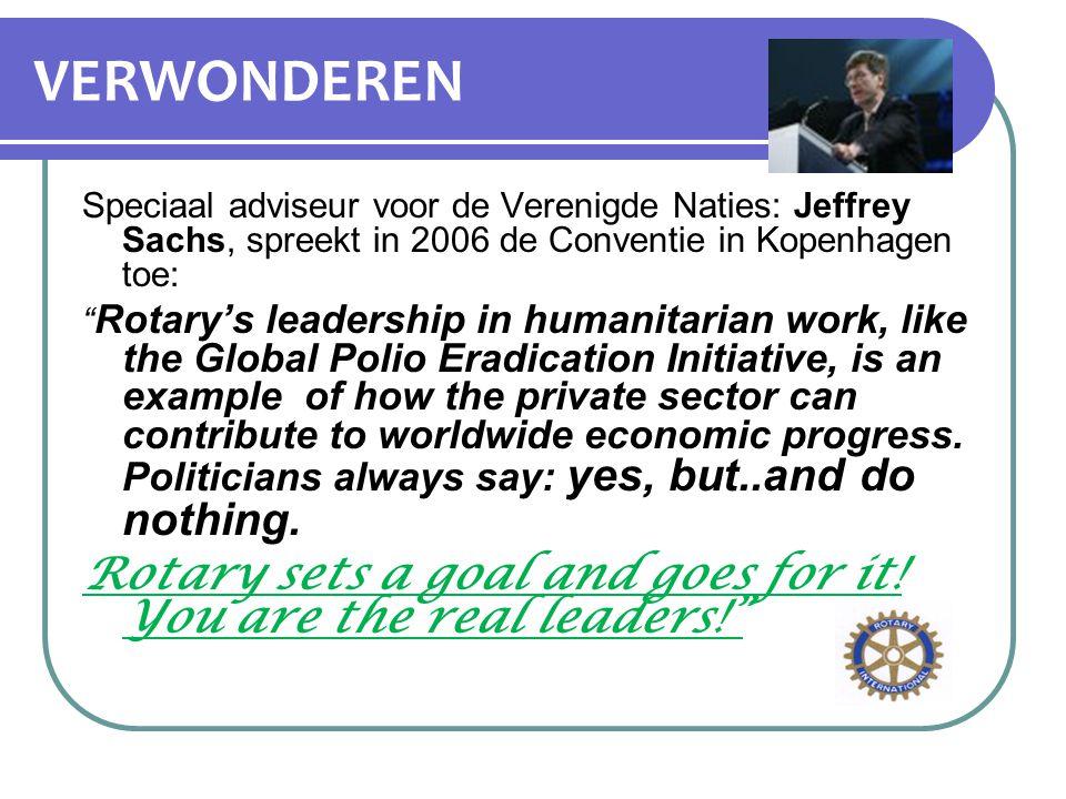 VERWONDEREN Speciaal adviseur voor de Verenigde Naties: Jeffrey Sachs, spreekt in 2006 de Conventie in Kopenhagen toe: