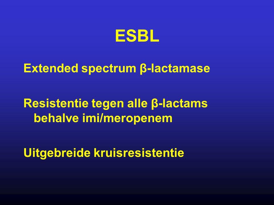 ESBL Extended spectrum β-lactamase