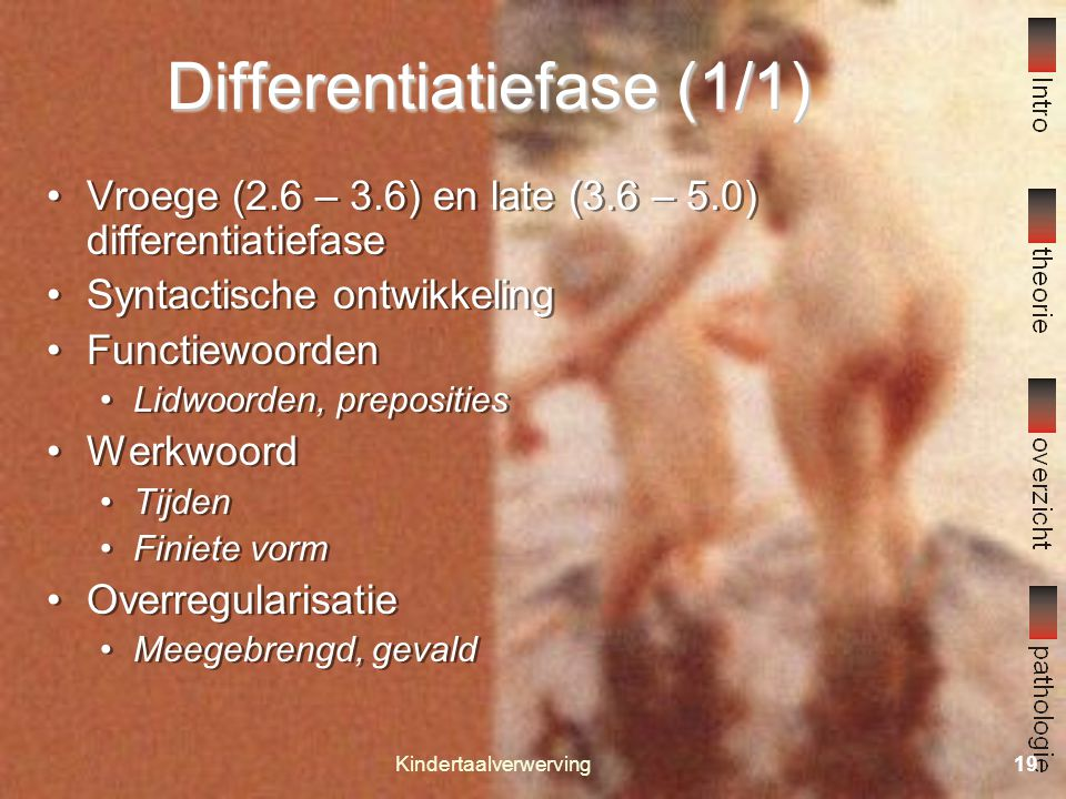 Differentiatiefase (1/1)