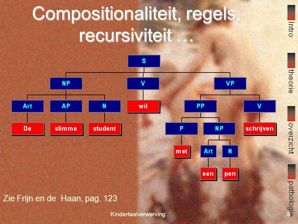 Compositionaliteit, regels, recursiviteit …