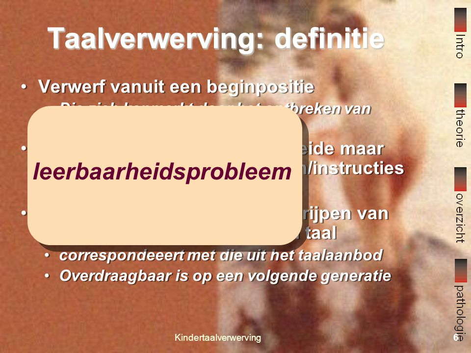 Taalverwerving: definitie