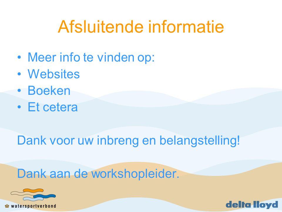 Afsluitende informatie