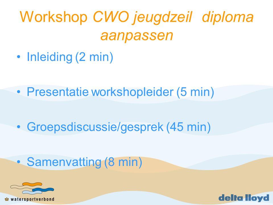 Workshop CWO jeugdzeil diploma aanpassen