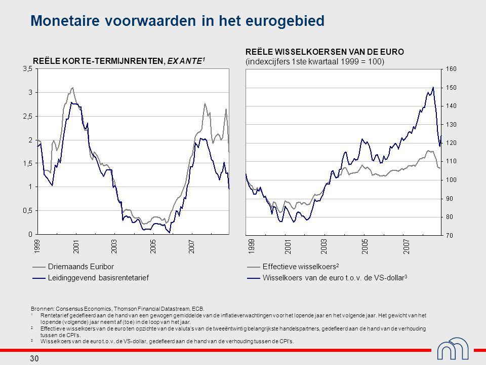 Monetaire voorwaarden in het eurogebied