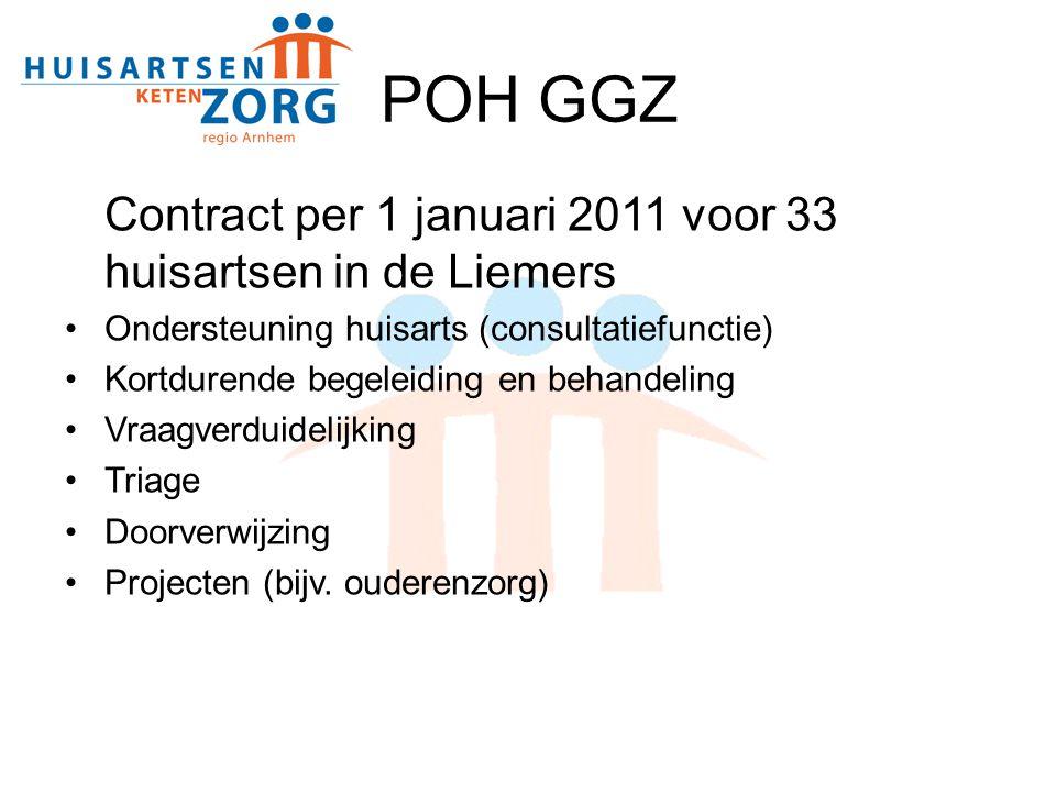 POH GGZ Contract per 1 januari 2011 voor 33 huisartsen in de Liemers
