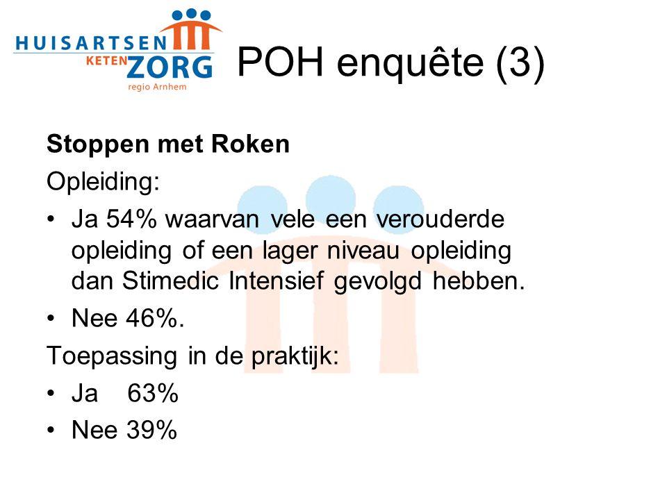 POH enquête (3) Stoppen met Roken Opleiding: