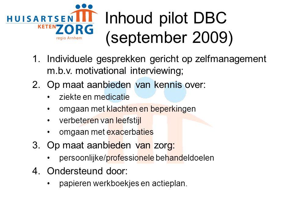Inhoud pilot DBC (september 2009)