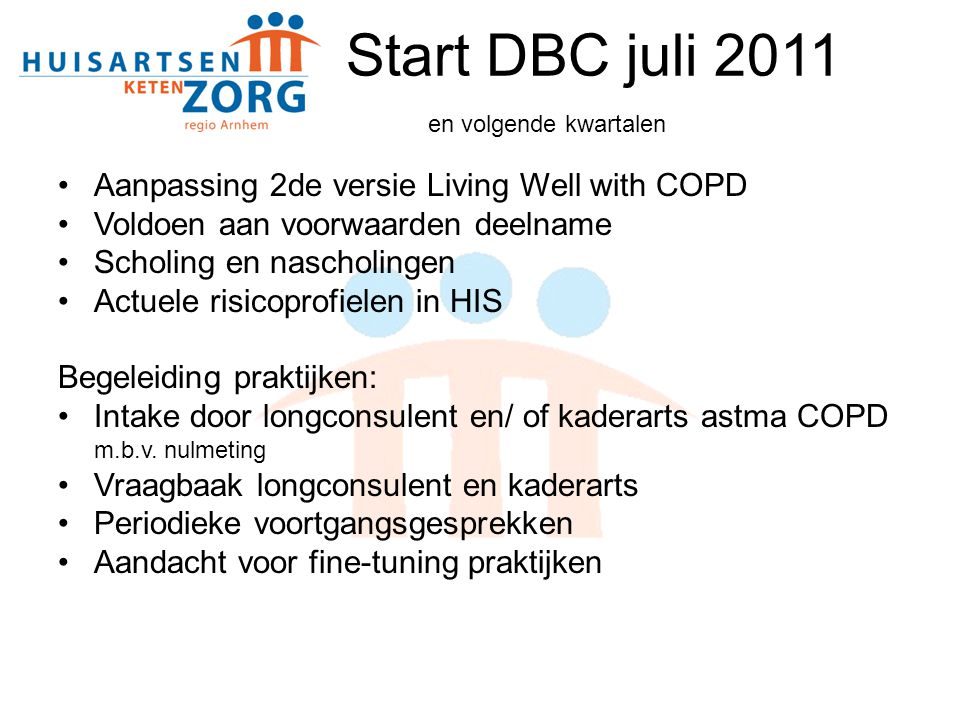 Start DBC juli 2011 en volgende kwartalen