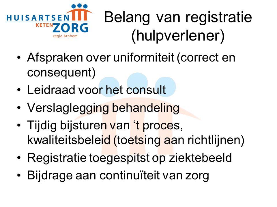 Belang van registratie (hulpverlener)