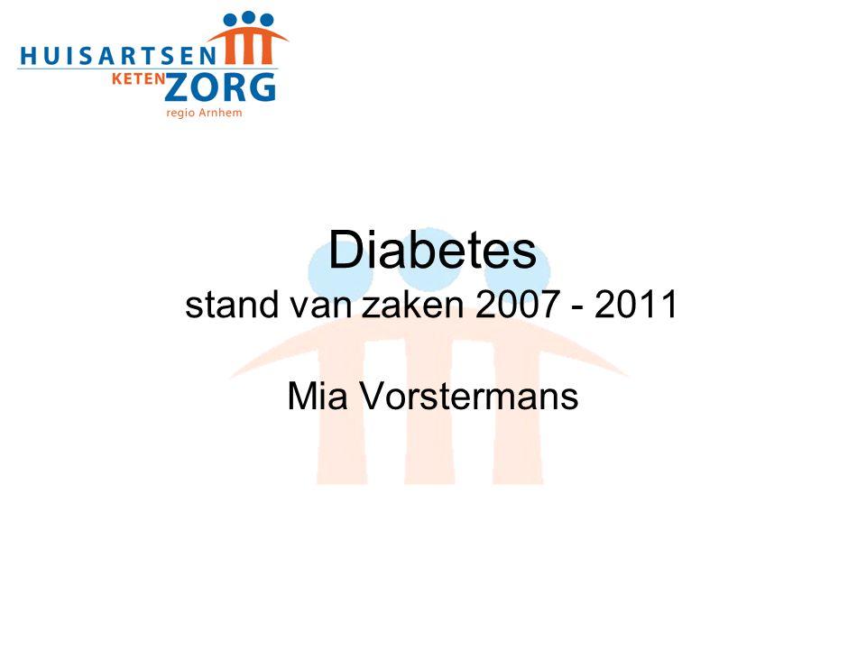 Diabetes stand van zaken 2007 - 2011