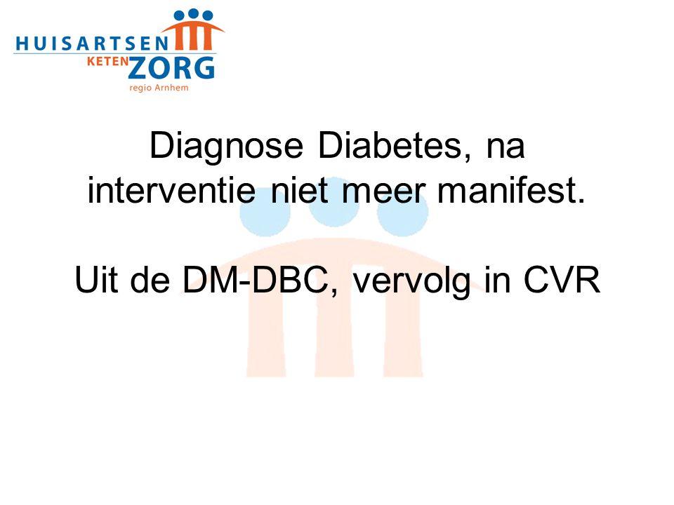 Diagnose Diabetes, na interventie niet meer manifest
