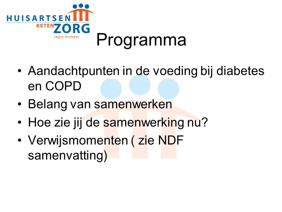 Programma Aandachtpunten in de voeding bij diabetes en COPD