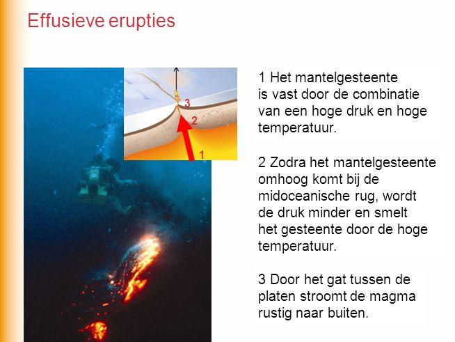 Effusieve erupties 1 Het mantelgesteente