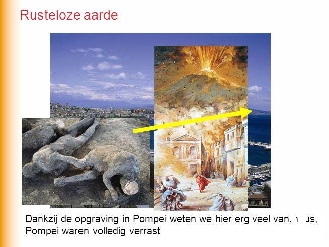 Rusteloze aarde Dankzij de opgraving in Pompei weten we hier erg veel van. De miljoenenstad Napels ligt op nog geen 10km van de Vesuvius,