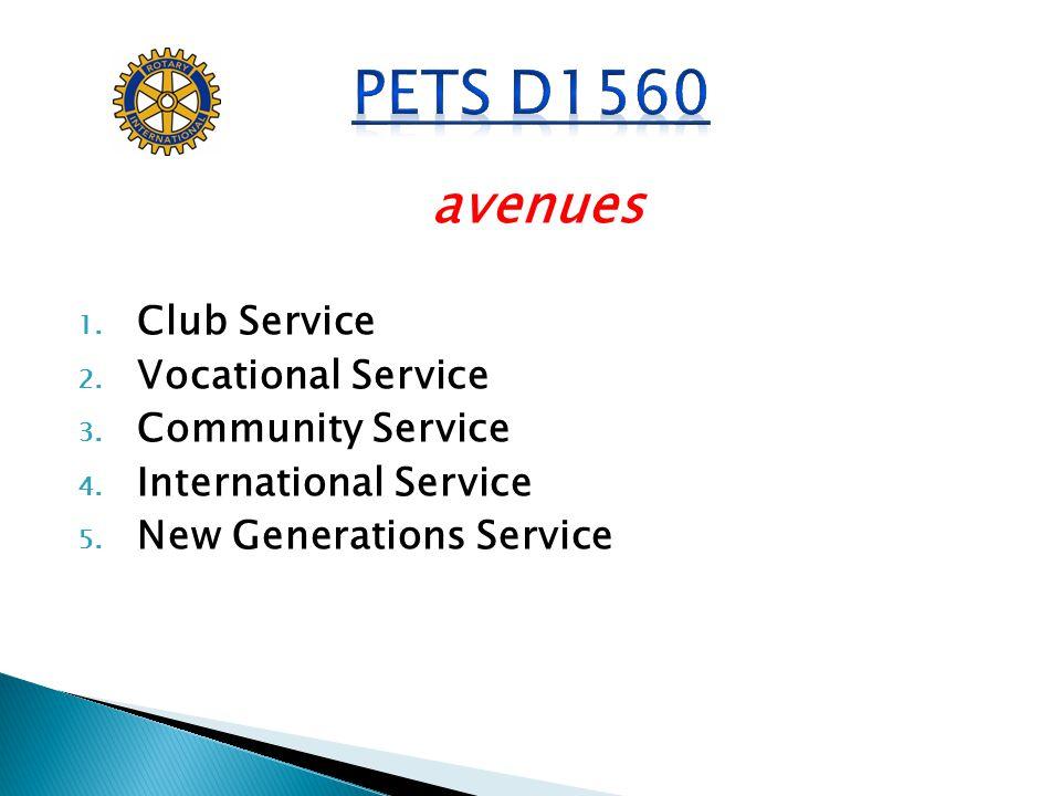 PETS D1560 avenues Club Service Vocational Service Community Service
