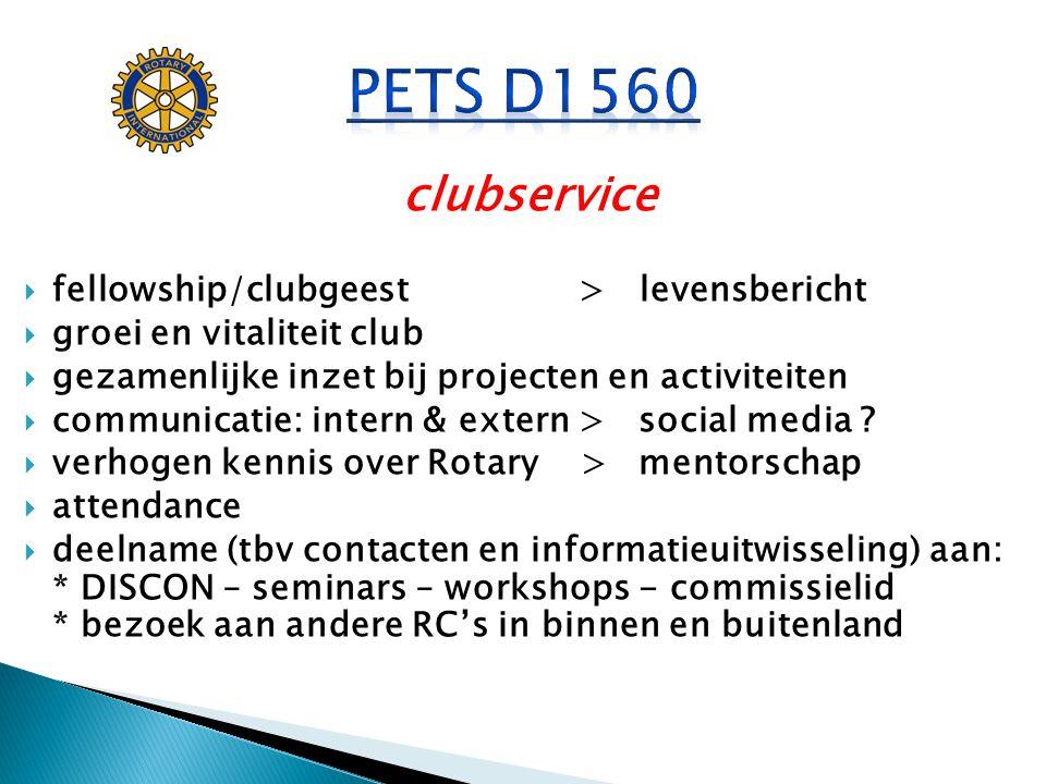 PETS D1560 clubservice fellowship/clubgeest > levensbericht