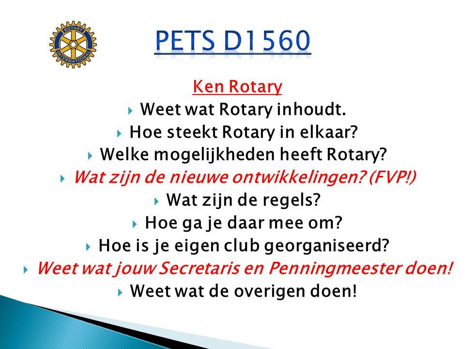 PETS D1560 Ken Rotary Weet wat Rotary inhoudt.