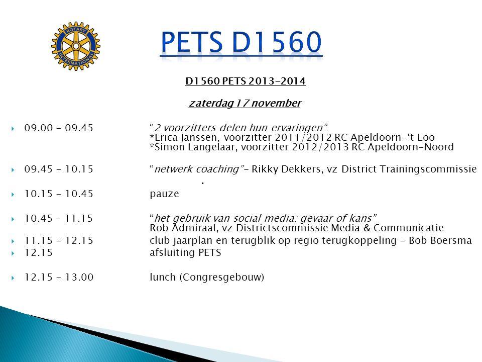 PETS D1560 . D1560 PETS 2013-2014 zaterdag 17 november