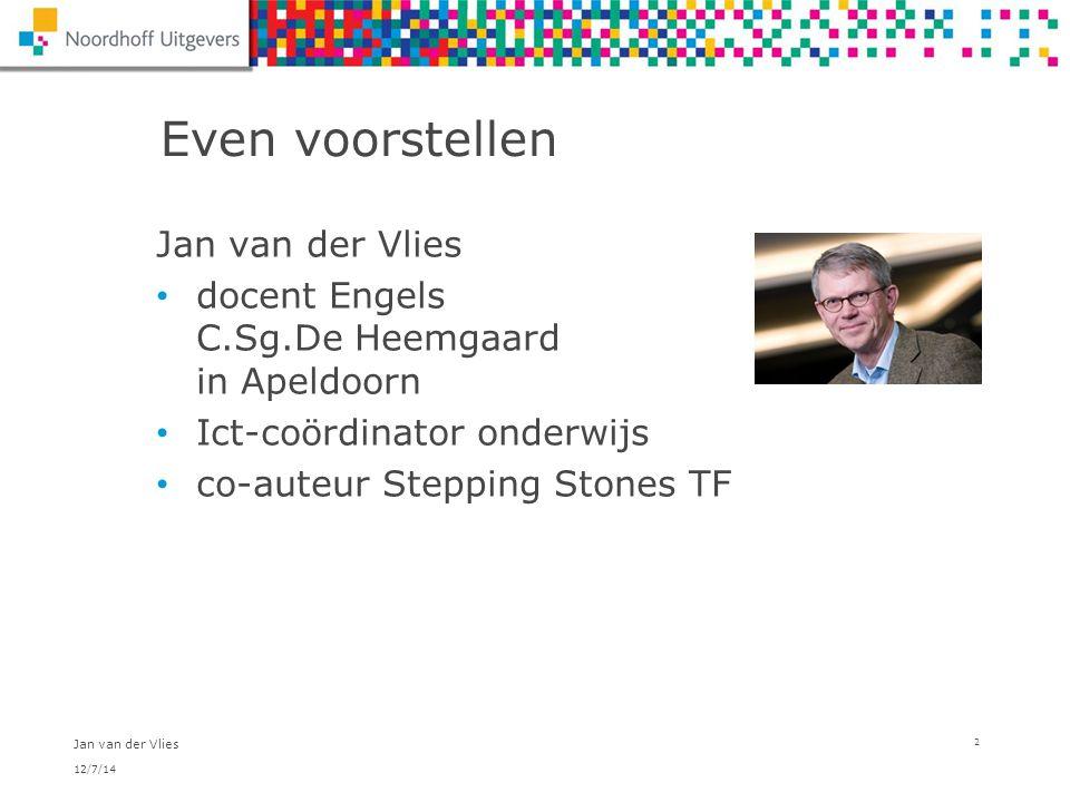 Even voorstellen Jan van der Vlies