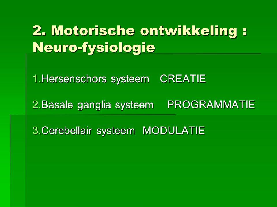 2. Motorische ontwikkeling : Neuro-fysiologie