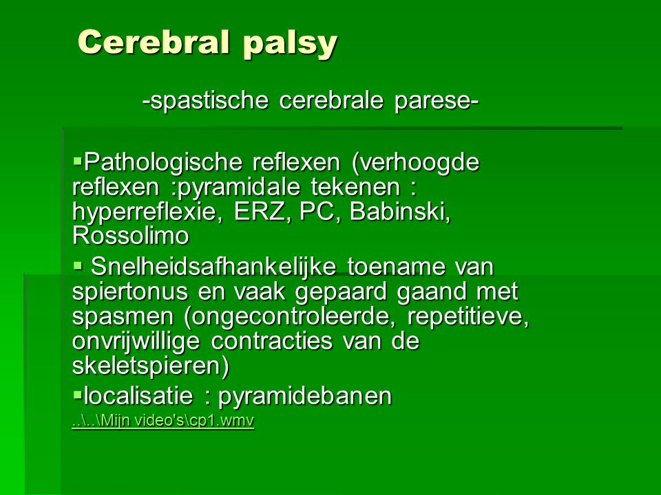 -spastische cerebrale parese-
