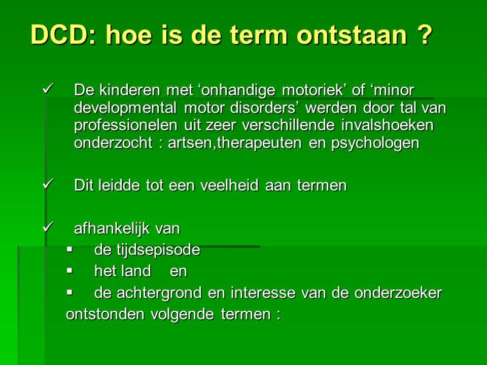 DCD: hoe is de term ontstaan