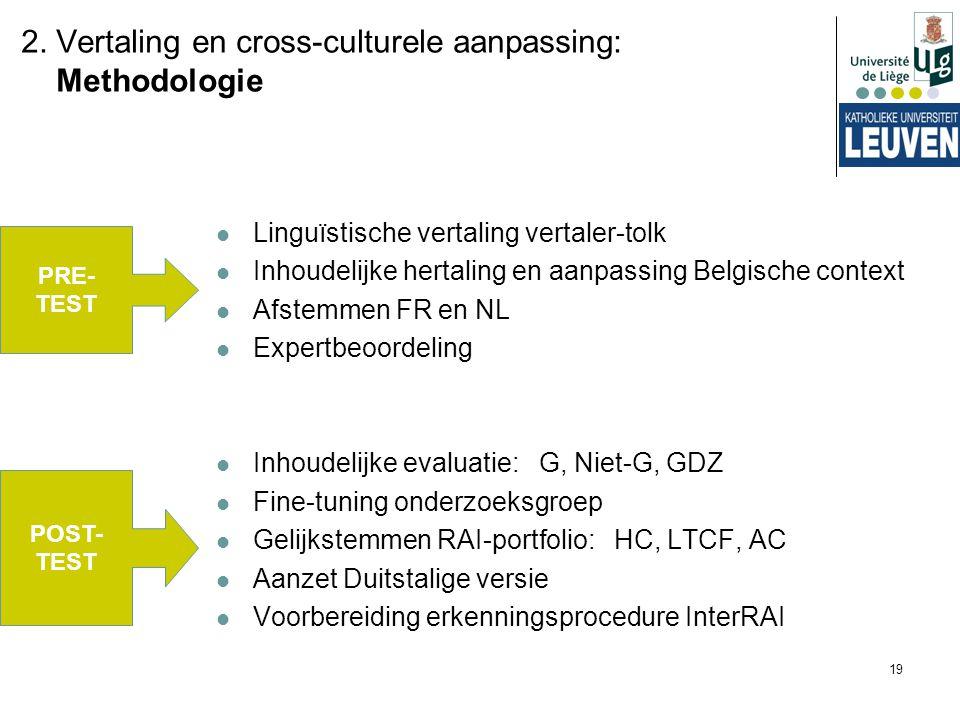 2. Vertaling en cross-culturele aanpassing: Methodologie