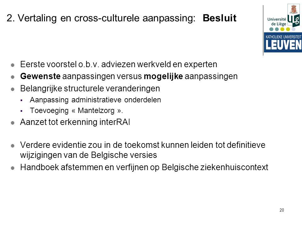 2. Vertaling en cross-culturele aanpassing: Besluit