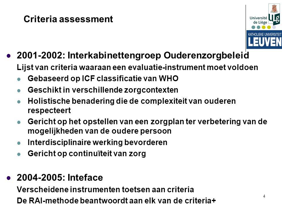 2001-2002: Interkabinettengroep Ouderenzorgbeleid