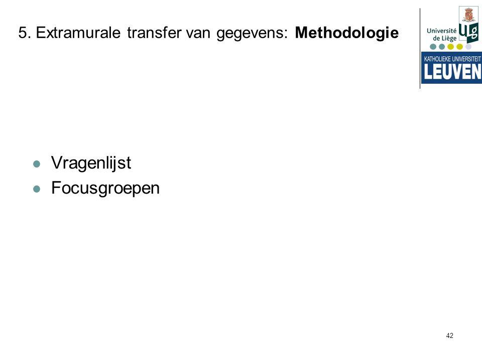 5. Extramurale transfer van gegevens: Methodologie