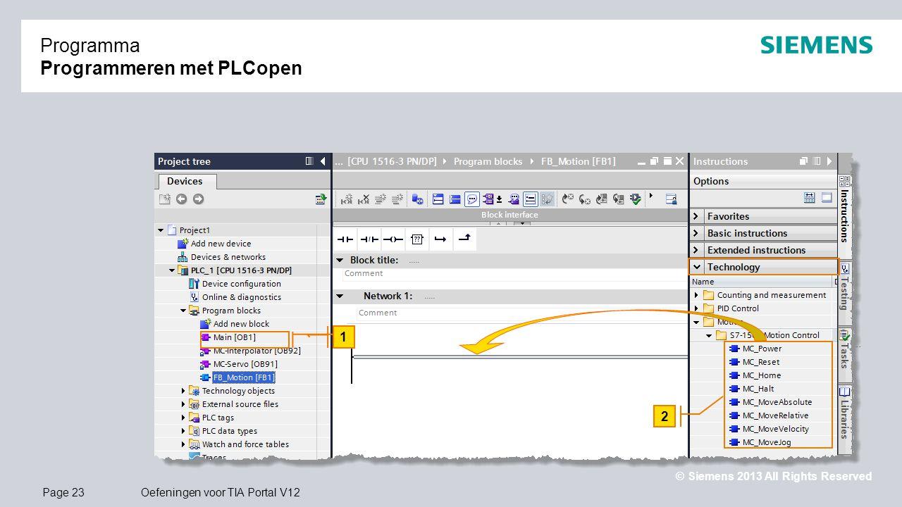 Programma Programmeren met PLCopen