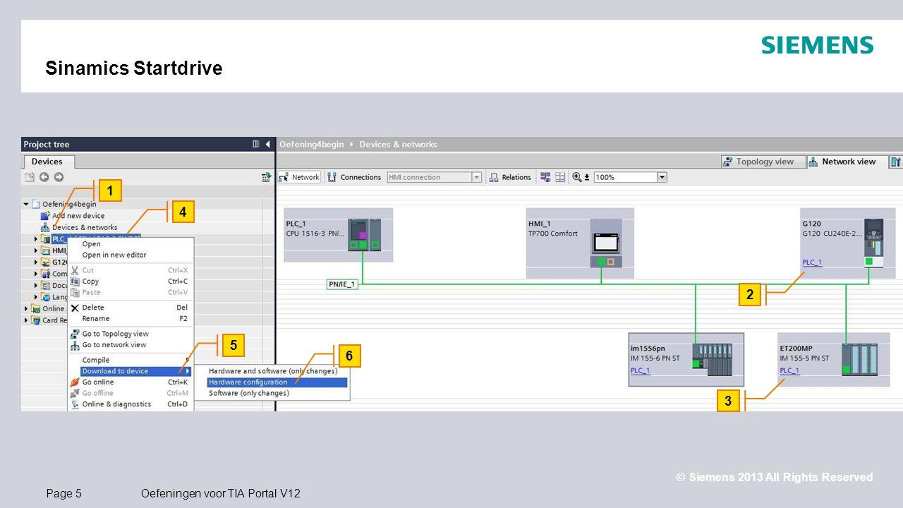 Sinamics Startdrive 1 4 2 5 6 3 Hardware configuratie downloaden