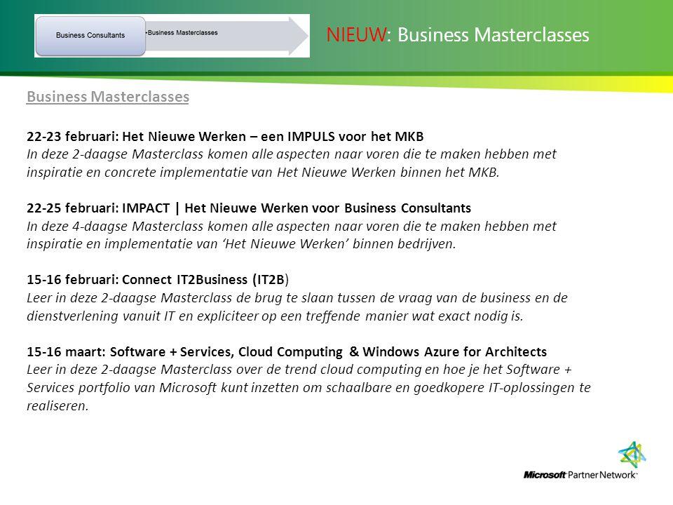 NIEUW: Business Masterclasses