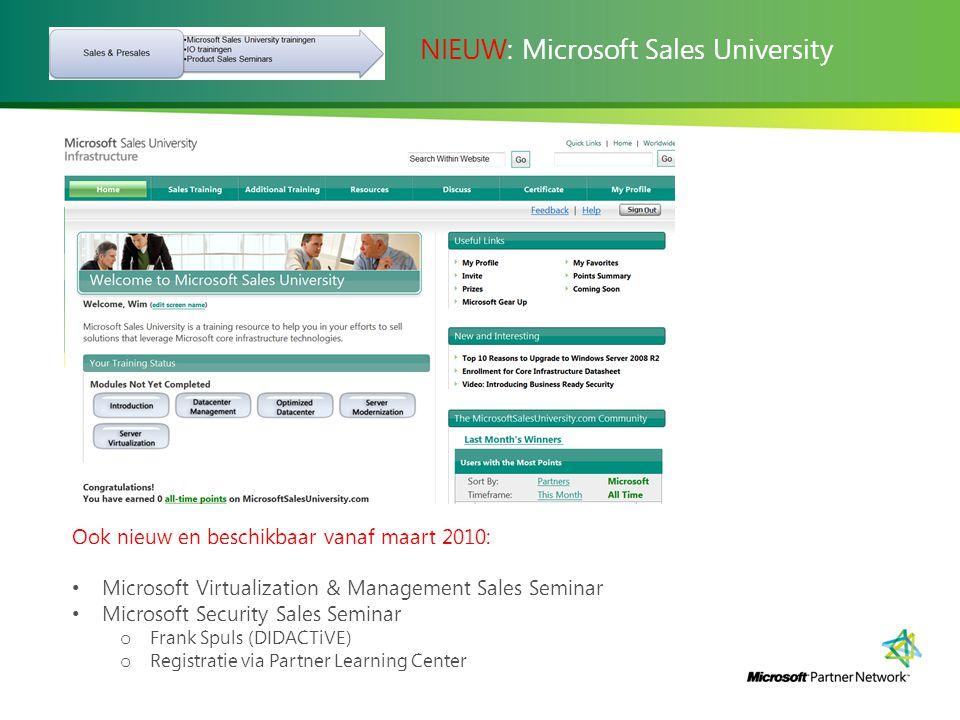 NIEUW: Microsoft Sales University