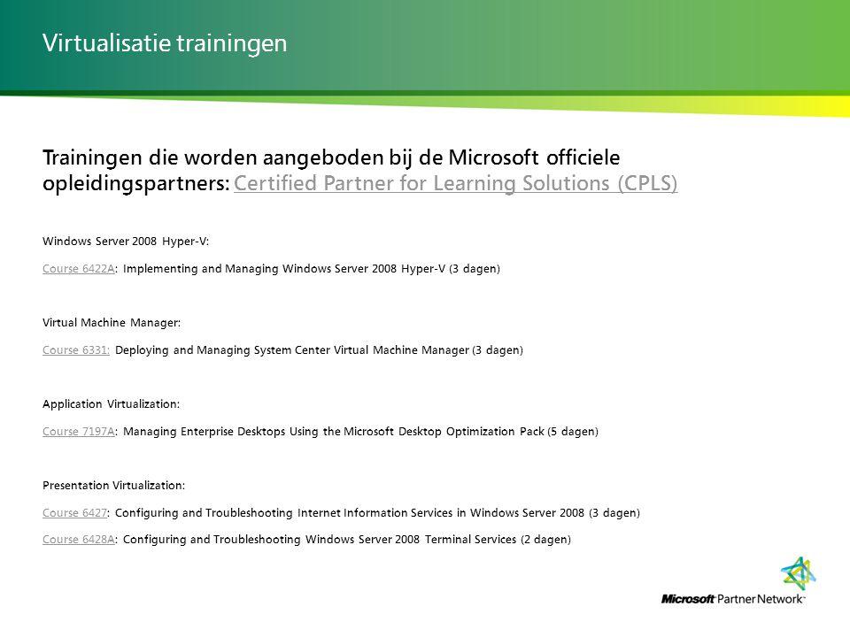 Virtualisatie trainingen