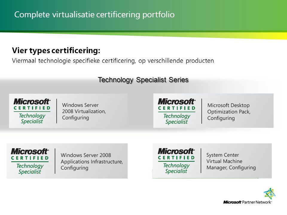 Complete virtualisatie certificering portfolio