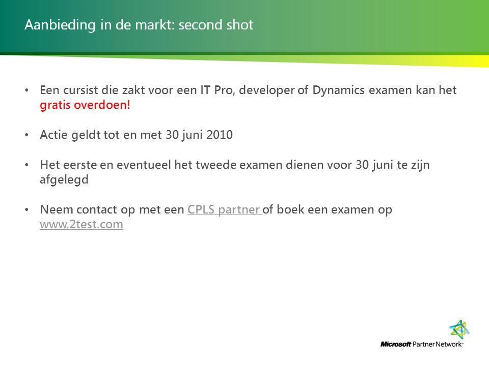 Aanbieding in de markt: second shot