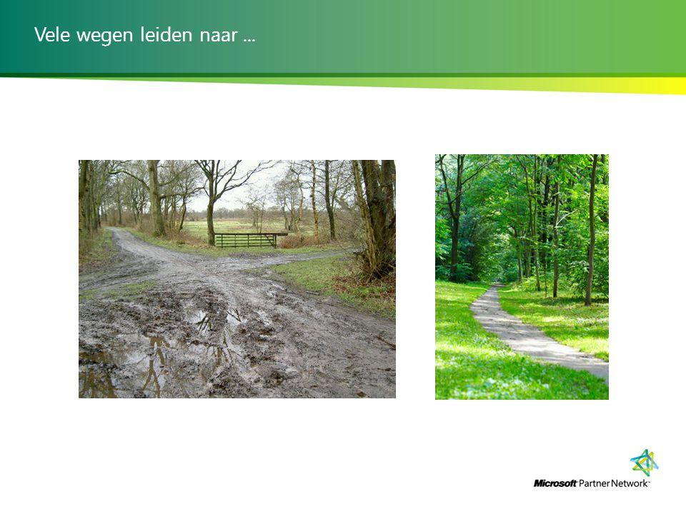 Vele wegen leiden naar ...
