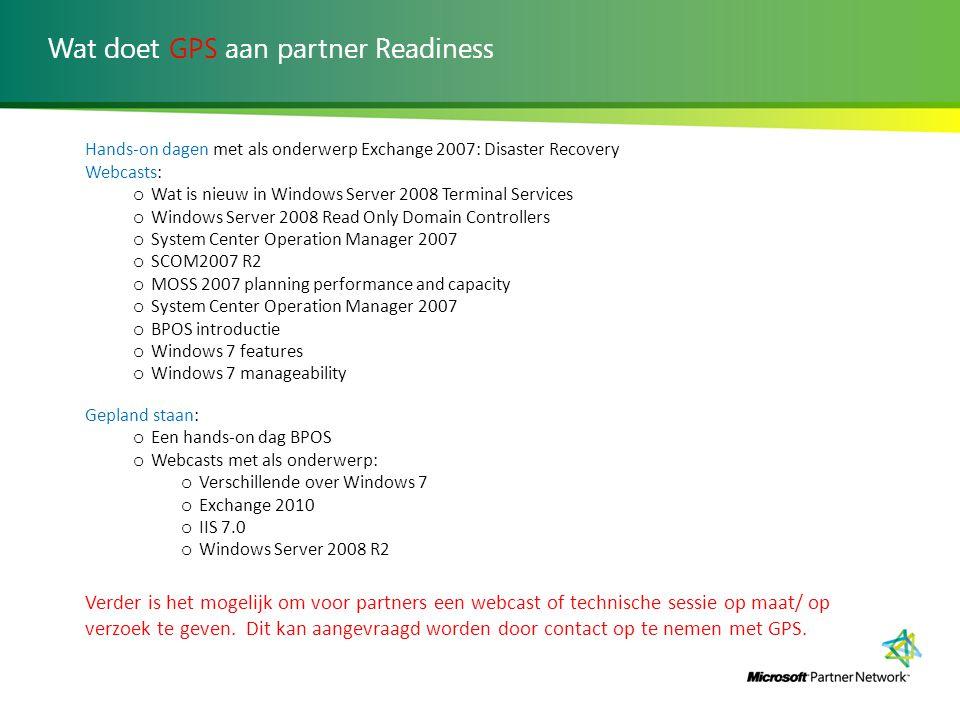 Wat doet GPS aan partner Readiness