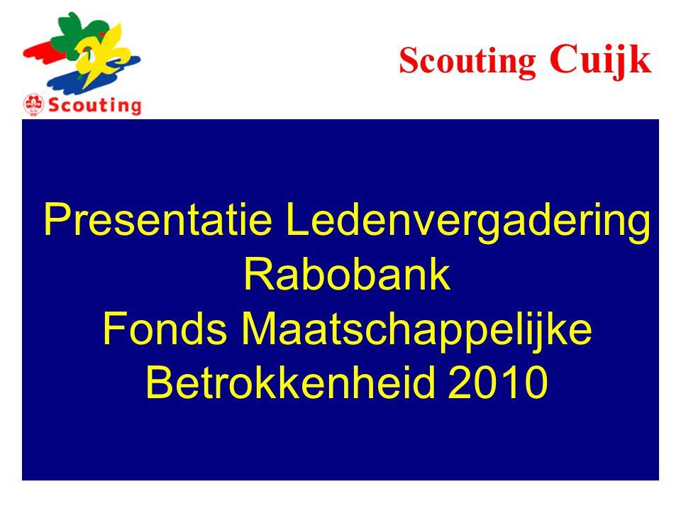Presentatie Ledenvergadering Rabobank