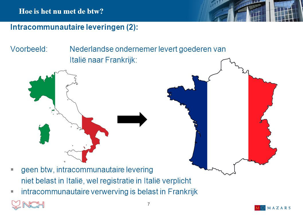 Intracommunautaire leveringen (2):