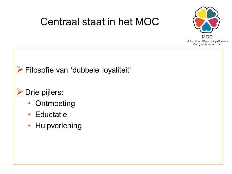 Centraal staat in het MOC